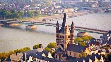 Croisière sur le Rhin de la Hollande à l'Allemagne