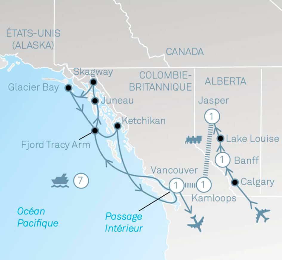 Rocky Mountaineer & L' Alaska avec Holland America